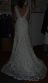 Wedding Gown Before Bustling