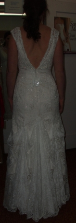 Wedding Gown Bustled
