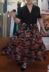 Twirling in a Full-Circle Skirt